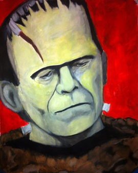 Frankenstein Painting