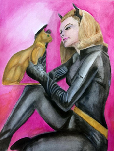 Cat Woman Painitng